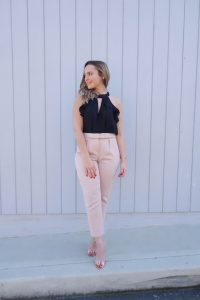 Hayley Cooper models a formal outfit